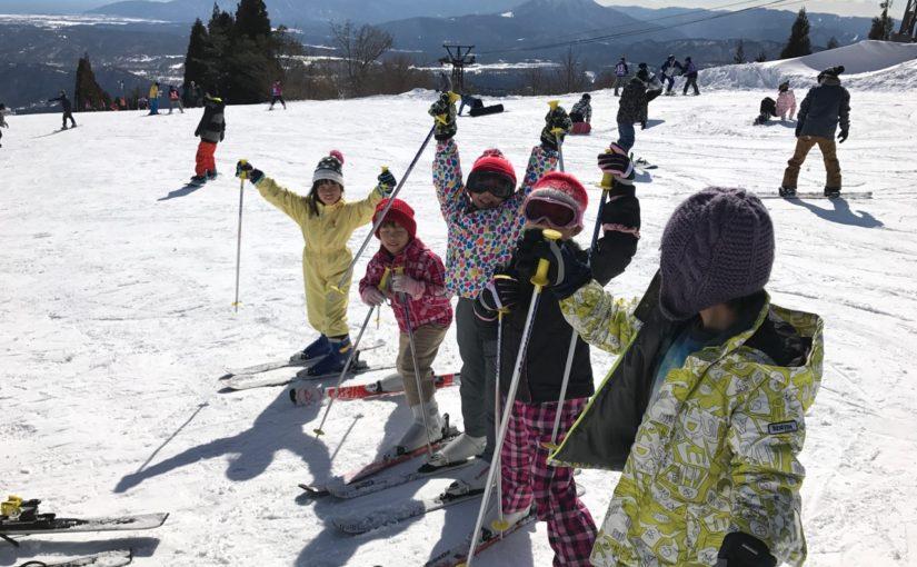 新カブ隊の初めてのスキー舎営!