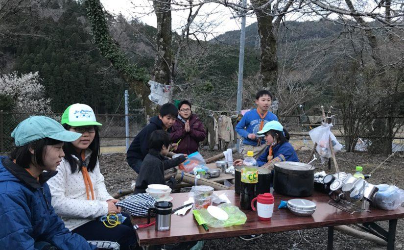 ボーイ隊は京北町で春キャンプを行いました!